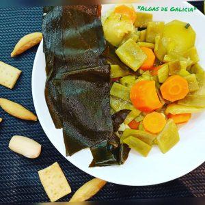 Receta con alga Kombu