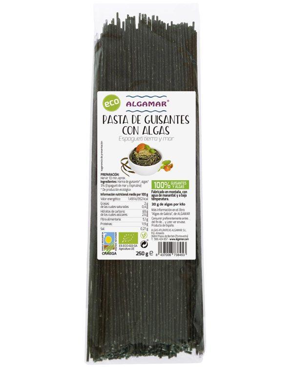 Espagueti SIN GLUTEN de Guisantes y Algas