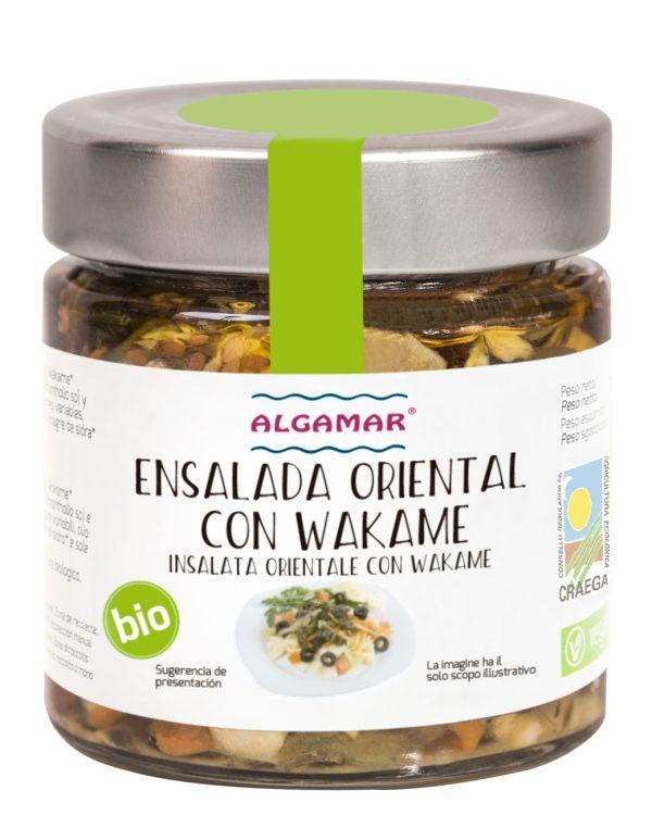 ensalada oriental con wakame